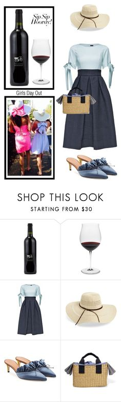 """""""Wine Tasting w my bestie!"""" by im-karla-with-a-k ❤ liked on Polyvore featuring Vineyard Vines, Riedel, Lattori, Rip Curl, Marco de Vincenzo, Muuñ, girlstrip and WineTastingOutfit"""