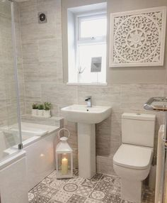 En suite / Badezimmer Idee – Home Decor On A Budget Cozy Bathroom, Downstairs Bathroom, Modern Bathroom, Bathroom Art, Minimal Bathroom, Scandinavian Bathroom, Bathroom Models, Zebra Bathroom, Kmart Bathroom