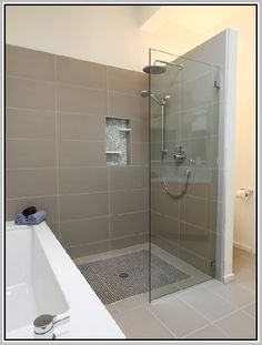curbless shower design - Google Search