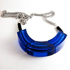 Lucite Chain Necklace Cobalt now featured on Fab.