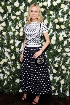 W Magazine Golden Globes Lunch, LA -January 11 2014  Diane Kruger wore top-to-toe Chanel.
