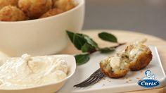 mushroom arancini with French onion hearts