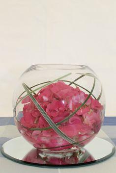goldfish bowl flower arrangements with hydrangeas - Google Search