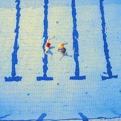 Maria Švarbová's swimming pool photographs