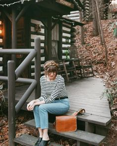 """Woke up in the adorable """"moonbeam"""" cabin in Asheville  See you soon Florida! Where are you guys spending your New Years Eve!? http://liketk.it/2pZWX @liketoknow.it #liketkit"""