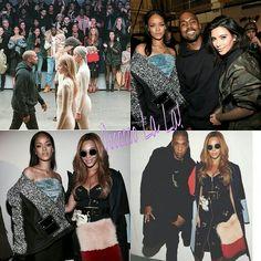 Kanye and Adidas #KimKardashian, #JayZ, #Beyonce and #Rihanna sitting front row  #OooLaLaBlog #KanyeWest #Yeezus #YeezyBoost #yeezyboost750 #NYC #adidasxkanyewest #event #adidasoriginal #yeezyoriginal