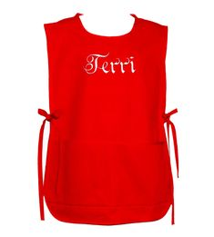 Red Cobbler Style Apron, Plus Size Smock, Artist, Teacher, Daycare, Vendor, Custom Gift, Personalized With Name, Large Pockets, AGFT 404 Wedding Dinner Dress, Cobbler Aprons, Birthday Gag Gifts, Adult Bibs, Gardening Apron, Great Gifts For Mom, Sewing Studio, Etsy Handmade, Customized Gifts