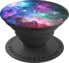 PopSockets - Blue Nebula Sky Grip and Stand for Mobile Devices - Black/Black