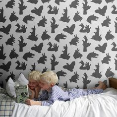 Deck out your nursery with this quirky shadow puppet wallpaper.