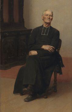 Jacques de Lalaing - Portrait of an old pastor, 1882
