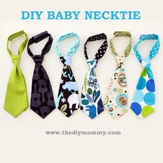 DIY Little-Guy-Necktie: adjustable neck piece makes this a grow-with-me tie that spans 6mos-3yrs. Minimal sewing required; printable pattern included. (Andrea Taylor! You should make these!)