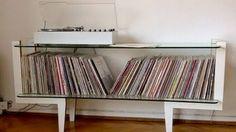 Mueble para vinilos