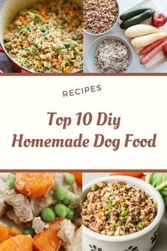 Handpicked Top 10 DIY homemade dog food recipes and you can easily make it at home to improve your pup's health and diet. Home Cooked Dog Food, Make Dog Food, Best Dog Food, Pet Food, Homemade Food For Dogs, Dog Treat Recipes, Healthy Dog Treats, Raw Food Recipes, Pet Treats