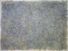 Ricardo Cadenas   Sin título (El mar)  2008. Óleo y lápiz sobre papel. 110x150cm