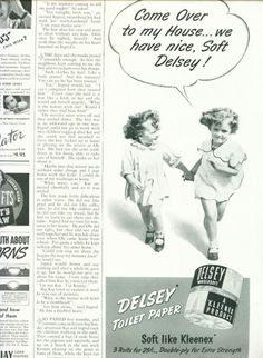 vintage toilet paper ads | Vintage Beauty and Hygiene Ads of the 1940s