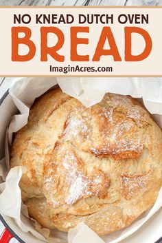 This no-knead Dutch oven bread recipe is simple to make using only four ingredients and bakes up a delicious, chewy artisan loaf with a crunchy crust. Learn how to make a rustic bread using this easy no-knead bread recipe. Recipes With Yeast, Bread Recipes, Whole Food Recipes, Cooking Recipes, Healthy Homemade Snacks, Homemade Spices, Dutch Oven Bread, Knead Bread Recipe, Rustic Bread