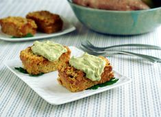 Candida diet, sugar-free, gluten free, grain-free, nut-free, dairy free, egg free, vegan Veggie Loaves with Avocado Tahini | Diet, Dessert and Dogs