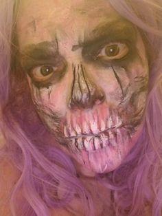Skeleton Makeup, Horror Makeup, Halloween Face Makeup, Fictional Characters, Art, Art Background, Kunst, Performing Arts, Scary Makeup