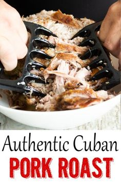 Jump to Recipe Print RecipeShare This Post!This Authentic Cuban Pork Roast is my Tio Jose's family famous recipe! My uncle makes this pork r. Cuban Recipes, Pork Recipes, Dinner Recipes, Dinner Ideas, Recipies, Hawaiian Recipes, Game Recipes, Dinner Dishes, Main Dishes