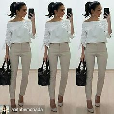 Best Casual Office Outfit For the Ladies Office Attire Women, Office Outfits, Work Attire, Chic Outfits, Fashion Outfits, Fashion Boots, Casual Office, Work Outfits, Summer Outfits