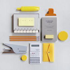 Yellow & grey.