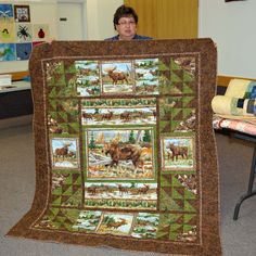Interesting use for panel pieces   North Star Quilt Guild