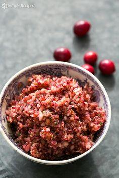 Fall cranberry salsa