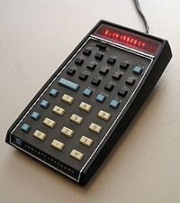 In December of 1972, TI files a patent application for the hand-held calculator with the inventors listed as Jack Kilby, Jerry Merryman, and James Van Tassel. HP introduces their first pocket calculator, the HP-35, the world's first pocket calculator with scientific (transcendental) functions. Slide rule sales plummet.