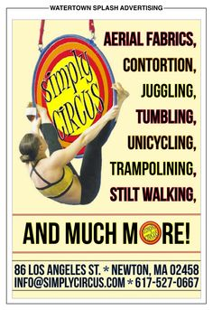 Simply Circus, created for the Watertown Splash Contortion, Middle School, Advertising, Teaching High Schools, Secondary School