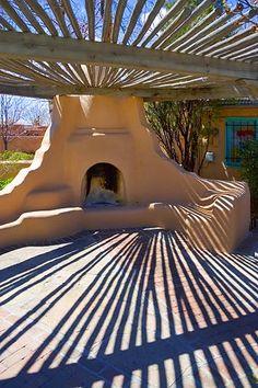 shadows in Santa Fe, New Mexico