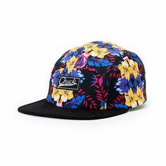 Original Chuck Floreal Black Floral 5 Panel Hat