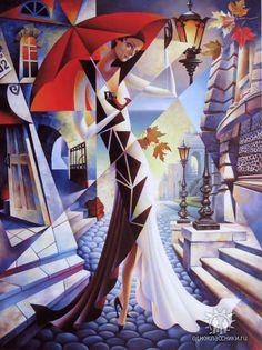 Одесса в рисунках и картинах Cubist Artists, Cubism Art, Pichwai Paintings, Charcoal Art, Art Deco Posters, Illusion Art, Arte Pop, Human Art, Autumn Art