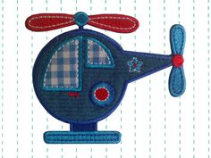 Helicopter Iron on Applique Patch by twinklespatches on Etsy, $5.99