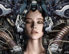 """Check out new work on my @Behance portfolio: """"Portrait cyber"""" http://be.net/gallery/61293727/Portrait-cyber"""