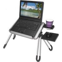 FlyStone Portable Notebook Table Folding Laptop Buddy Desk Cooling Pad With Mouse Pad And Cup Holder for Asus VivoBook / Apple MacBook Air (Mid / Dell Inspiron 15 BLK) / Dell Latitude / Lenovo / Lenovo Id Computer Workstation, Pc Computer, Portable Laptop Table, Laptop Shop, Buy Laptop, Notebook Case, Pink Zebra, Laptop Accessories, The Help