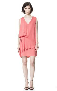 Image 1 of DRESS WITH SIDE PLEAT from Zara