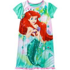 Little Mermaid-dis Licensed Girls Sleepwear, Green