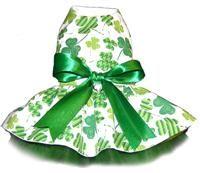 Green Shamrock St. Patty's Day Dog Dress