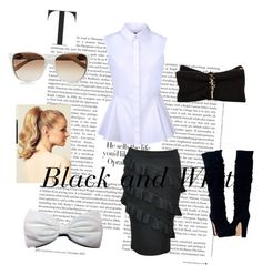 Black and White by liesandsecrets on Polyvore featuring McQ by Alexander McQueen, Dsquared2, Gucci and Hershesons