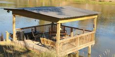 Easy And Cheap River Dock Design For Awesome Lake Home Ideas 487 — Fres Hoom Lake Dock, Boat Dock, Dock House, Farm Pond, Pond Landscaping, Landscaping Company, Haus Am See, Natural Pond, Backyard Water Feature