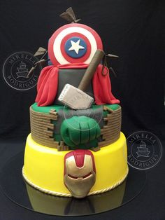 The Avengers cake. That is pretty friggin' awesome.