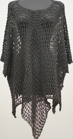 D'CELLI DESIGNER LINEN CROCHET KNIT SHORT SLEEVE TUNIC SWEATER BLACK $395