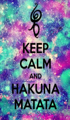 Keep calm hakuna matata galaxy iPhone/Android wallpaper I created for the app CocoPPa.