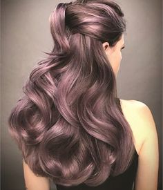 Dusty lavender hair color by Guy Tang.