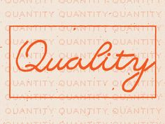 Qualityquantity by Jonathan Lawrence (Dribble)