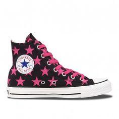 #Converse Chuck Taylor All Star Hi Star Print