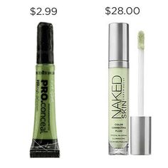 """""""LA Girl Pro Conceal HD Corrector in green is definitely one of my holy grail products! It's an incredible dupe of most of those expensive color correctors out there, but most similar to Urban Dec Drugstore Makeup Dupes, Beauty Dupes, Diy Beauty, Beauty Makeup, Beauty Hacks, Beauty Products, Makeup Products, Best Drugstore Color Corrector, Elf Dupes"""