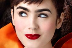 lily collins | mirror mirror Love her expression.