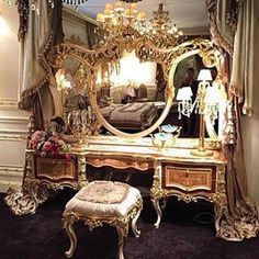 It's doesn't get dreamier than this vanity! Magic Places, Luxury Interior, Interior Design, Luxury Decor, Dressing Table Vanity, Dressing Tables, Vanity Room, Dream Bedroom, Architecture
