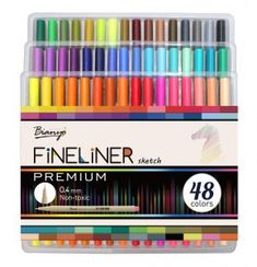 Buy Bianyo 48 Colors Needle Drawing Marker Pen Sketch Fineliner Color Pen Art Markers for School Student Design Supplies Book Markers, Sketch Markers, Adult Coloring, Coloring Books, Marker Pen, Pen Art, Drawing, Student, Stationery
